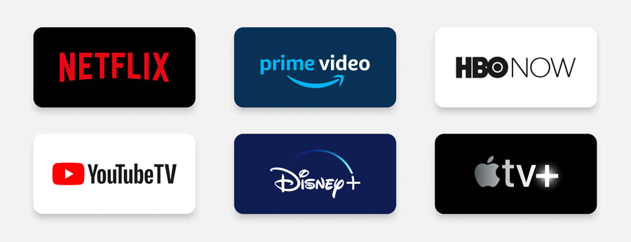 abonnement aux offres tv : netflix, amazon prime video, canal plus